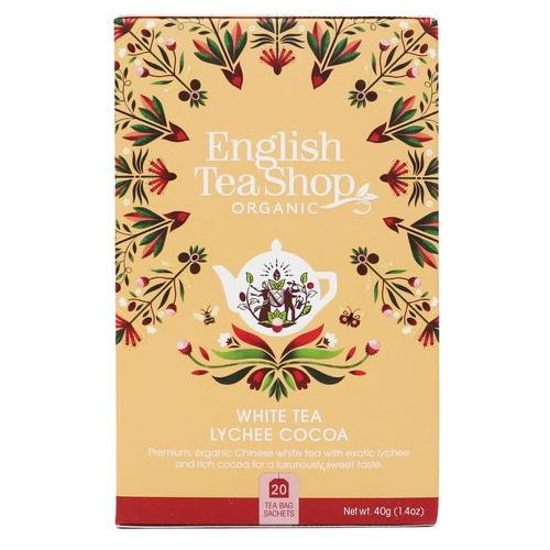 Biała herbata Lychee Cocoa 20x2 g BIO 40 g English Tea Shop