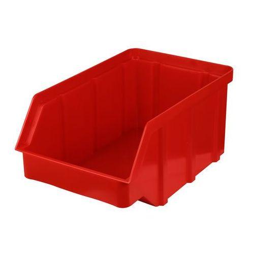 Plastikowy pojemnik warsztatowy - wym. 315 x 200 x 150 - kolor czerwony