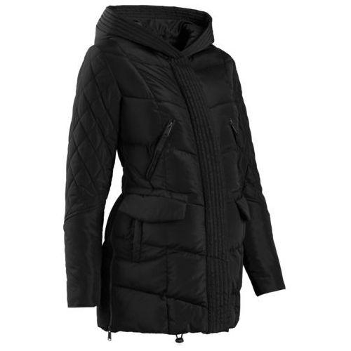 Płaszcz ciążowy pikowany z regulacją obwodu bonprix czarny, kolor czarny