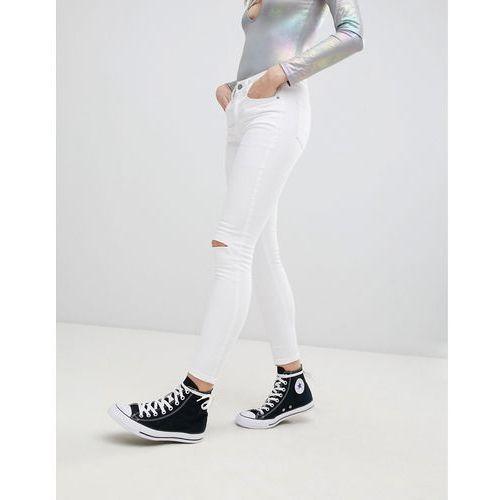 Glamorous knee rip skinny jeans - white