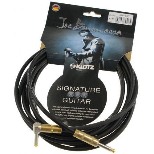 Klotz JBPR045 Joe Bonamassa kabel gitarowy 4,5m, jack-jack kątowy, pozłacane wtyki