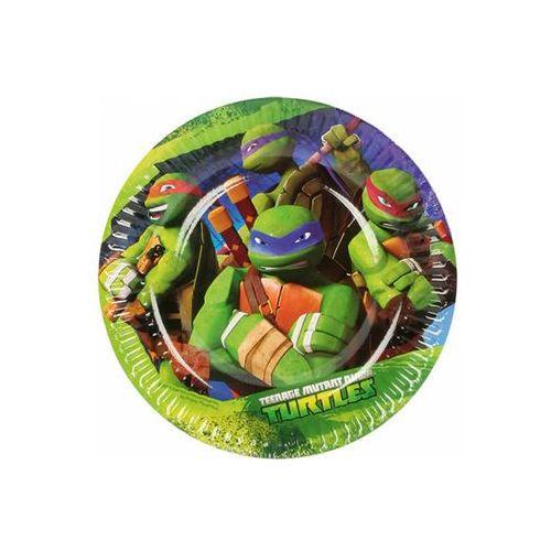 Amscan Talerzyki urodzinowe wojownicze żółwie ninja - 18 cm - 8 szt.