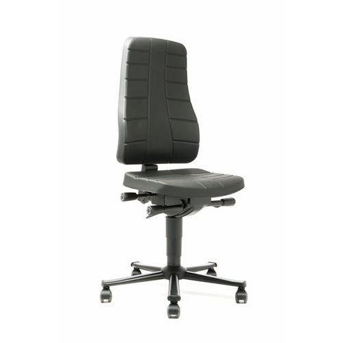 Obrotowe krzesło do pracy z funkcjami ergonomicznymi, na rolkach, pianka poliure