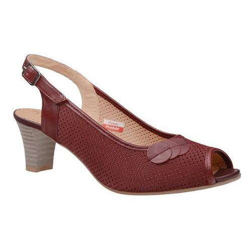 Czółenka sandały comfort 2307 rubin peep toe na haluksy, Axel