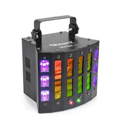Beamz Magic 2 Derby, R / G Laser, Strobe / UV Light Effect, 9 kanałów, DMX, Czarny