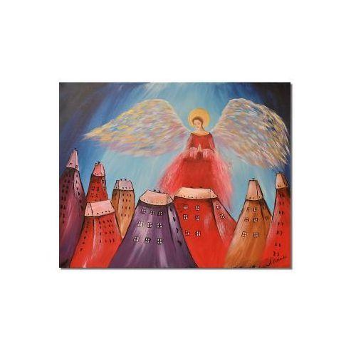 Anioł, obraz ręcznie malowany (obraz)