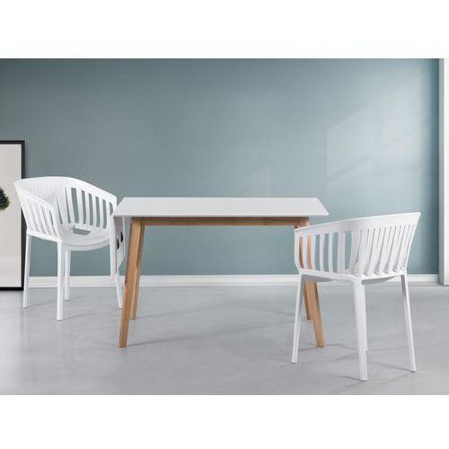 Stół biały - 120x80 cm - kuchenny - do jadalni - MEDIO, produkt marki Beliani