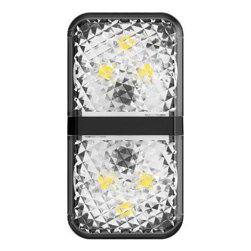 Baseus zestaw 2x ostrzegawcza lampka LED do drzwi samochodu czarny (CRFZD-01) - Czarny, 54278 (12643414)