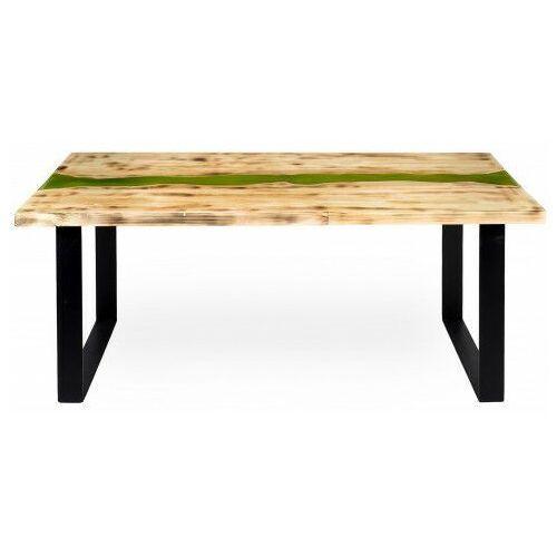 Elior Industrialny stolik kawowy z żywicą 120x60 cm - welisa 3x