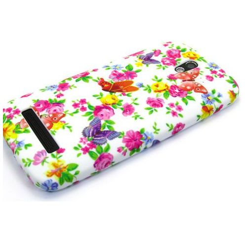 Etuo.pl Floral case - htc desire 500 - etui na telefon - drobne kwiatki