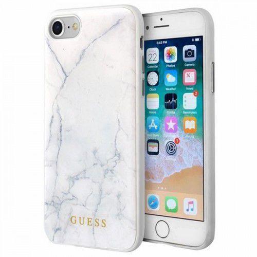 Guess Marble - Etui iPhone 8 / 7 (biały) - Szybka wysyłka - 100% Zadowolenia. Sprawdź już dziś! (3700740422649)