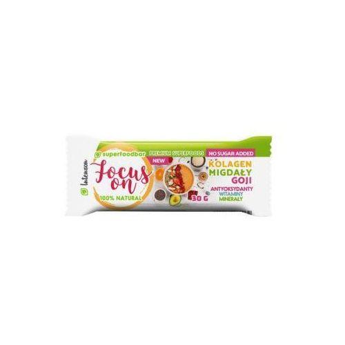 Baton owocowy z migdałami, kolagenem i jagodami goji Focus On 30 g Intenson (5902150284062)