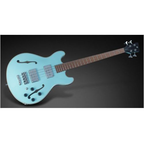 Rockbass star bass 4-string, solid daphne blue high polish, fretted - medium scale gitara basowa