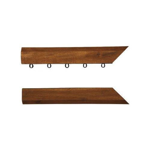 Listwa narożna do tarasów drewnianych 30cm akacja 2szt (deska tarasowa)