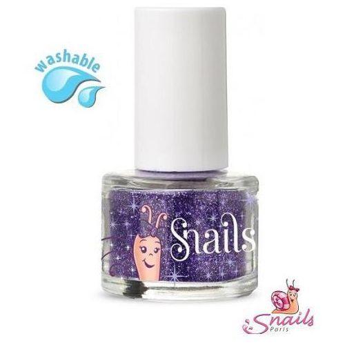 Snails  brokat do paznokci - purple blue