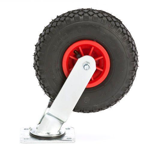 Gumowe koło pneumatyczne samonastawne 260x85mm 100kg