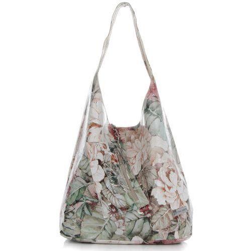 084b7092a29ab Vittoria gotti Modne torebki skórzane shopperbag xl wzór w kwiaty  renomowanej marki ziemiste (kolory) 229,00 zł spore torby również mogą być  zgrabne i ...