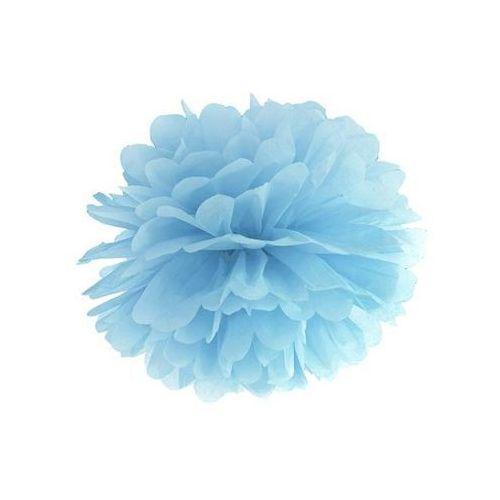 Dekoracja wisząca pompon kwiat - jasnomglistoniebieska - 35 cm - 1 szt.