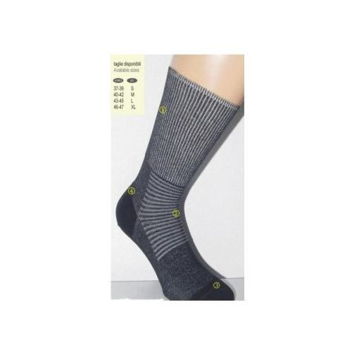 Skarpety dla diabetyków i na delikatną stopę z nanosrebrem - czsalus marki Czsalus (włochy)