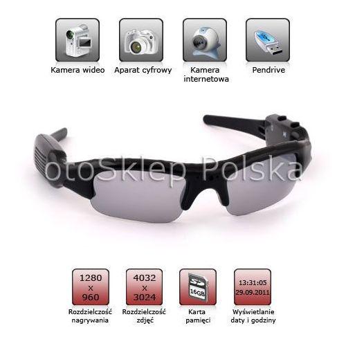 Okulary szpiegowskie z mini kamerą HD 32A od otosklep.bazarek.pl
