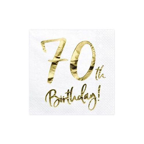 Party deco Serwetki urodzinowe na siedemdziesiąte urodziny - 70tka - 33 x 33 cm - 20 szt.