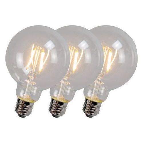 Zestaw 3 żarówek LED z żarnikiem G95 4W 2700K przezroczyste (lampa zewnętrzna ogrodowa) od lampyiswiatlo.pl