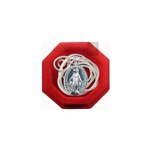 Cudowny medalik z łańcuszkiem - srebrny