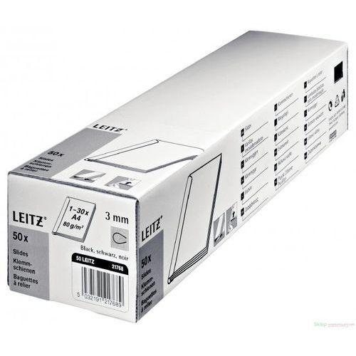 Grzbiet wsuwany LEITZ 6mm - czarne 21781, 21781