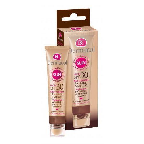 Dermacol Sun Cream & Lip Balm SPF30 preparat do opalania twarzy 30 ml dla kobiet (8595003100533)