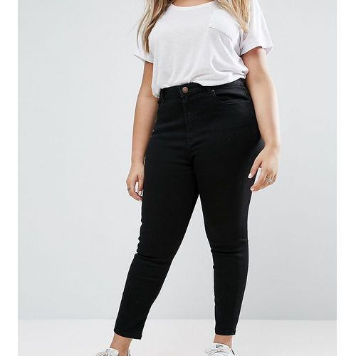 ASOS DESIGN Curve Ridley high waist skinny jeans in clean black - Black
