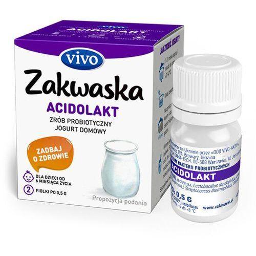 Jogurt domowy ACIDOLAKT żywe kultury bakterii probiotyk opakowanie 2 x 0,5g ZAKWASKI VIVO