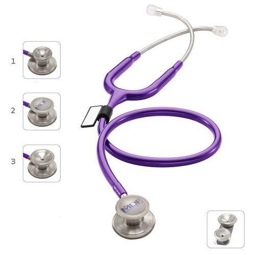Stetoskop md one epoch 777dt z tytanu z głowicą 4w1 - purpurowy marki Mdf