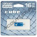 Produkt z kategorii- pendrive - GOODRAM FLASHDRIVE 16GB USB 2.0 CUBE
