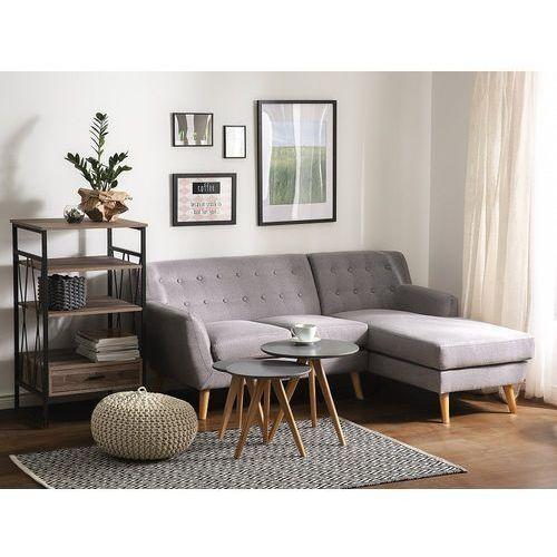 Sofa jasnoszara - kanapa - tapicerowana - narożnik - MOTALA (7081457118060)