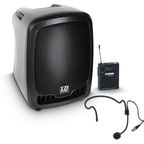 roadboy 65 hs b6 przenośna kolumna aktywna na baterie z bezprzewodowym mikrofonem nagłownym marki Ld systems
