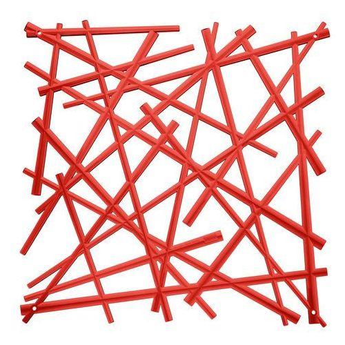 Panel dekoracyjny STIXX - 4 sztuki w komplecie - kolor czerwony, KOZIOL