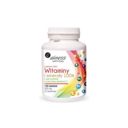 Witaminy i minerały 100% z żeń-szeniem i z naturalną witaminą C / 120 tabl.