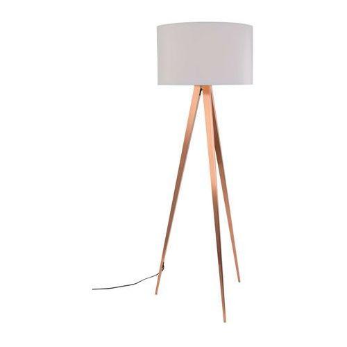 Zuiver lampa podłogowa tripod miedziana biała 5100054 (8718548027633)