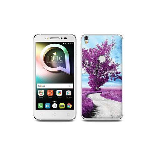 Alcatel Shine Lite - etui na telefon Foto Case - purpurowe drzewo