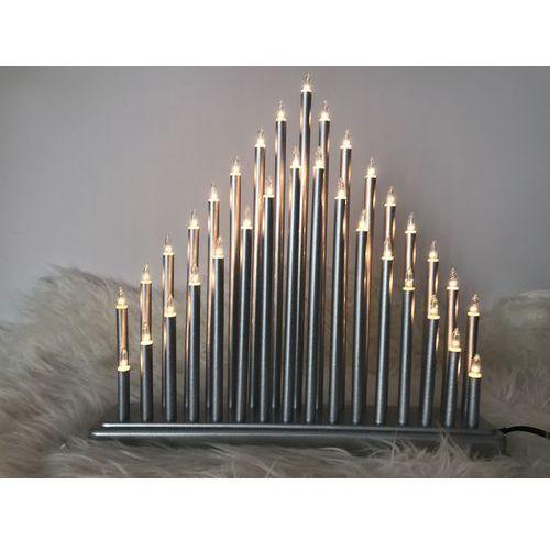 AXX211110 ŚWIECZNIK ADWENTOWY SREBRNY BIG 33 lampki