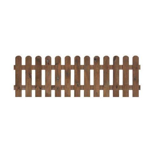 Płotek sztachetowy 180x60 cm drewniany NIVE NATERIAL