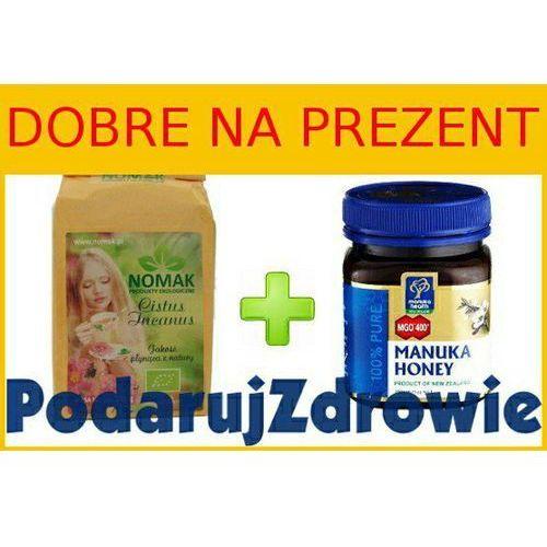 .06 - gotowy pakiet na prezent dla bliskich - nowozelandzki miód manuka i herbata z czystka - na odporność marki Manuka health new zealand limited