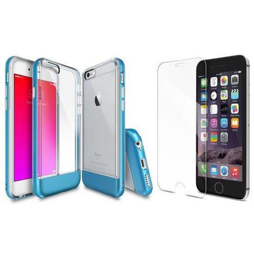 Zestaw | Rearth Ringke Old Frame Ocean Blue | Obudowa + Szkło ochronne dla modelu Apple iPhone 6 / 6S