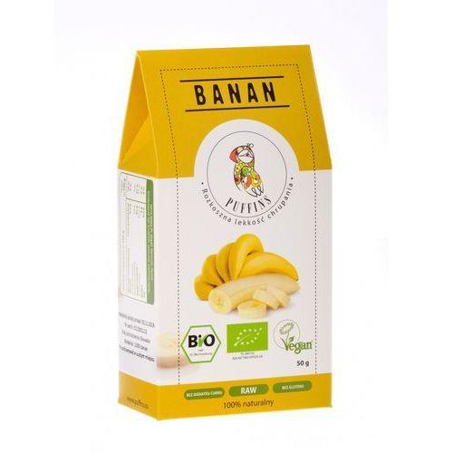 Puffins Banan Suszony Bez Cukru 40g MicroFood EKO (5901685101103)