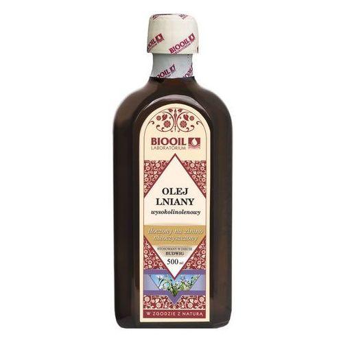 Olej lniany budwigowy 500ml - 500ml, produkt z kategorii: Oleje, oliwy i octy