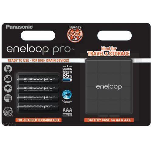 4 x akumulatorki Panasonic Eneloop PRO R03 AAA 930mAh BK-4HCDEC4BE (blister + box) (5410853060178)