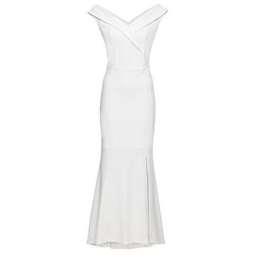 Sukienka wieczorowa bonprix biały, wieczorowa