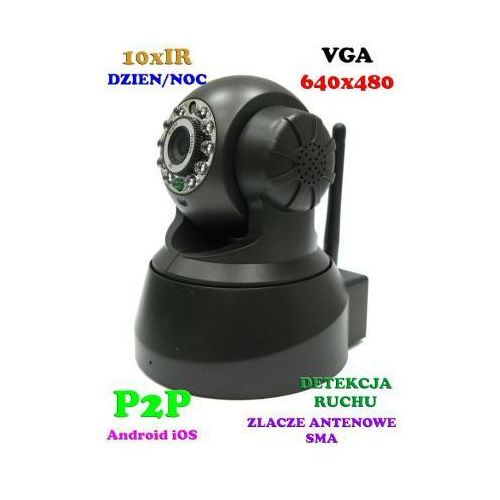 Kamera bezprzewodowa ip/wifi (zasięg cały świat!), obrotowa, dzienno-nocna z fonią + możl. zapisu... marki Topipcam