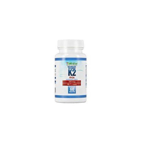 Naturalna witamina K2 MK-7 MAX 200mcg 60 tabletek menachinon-7 natto