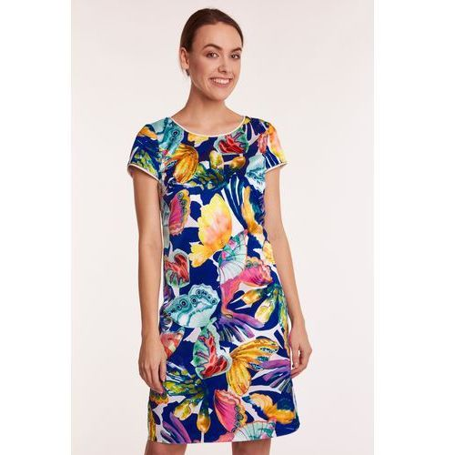 6c983506f2 Satynowa sukienka w kwiaty Issoria 576